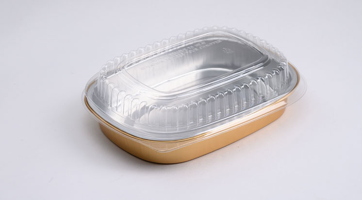 Aluminum Foil Lid And Container For Airline