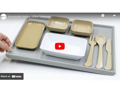 Airline Eco friendly Rotable Tableware